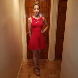 Short Red BCBG Dress